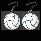VOLLEYBALL DISC EARRINGS - Coach Gift - Team Player Jewelry - BIG - Show your love of the game!