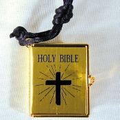 BIBLE PENDANT NECKLACE-REAL Quinceanera Christian Jewelry-GOLD