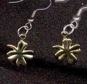 4-LEAF CLOVER LUCKY CHARM EARRINGS - Tiny Shamrock St Patricks Day Good Luck Jewelry