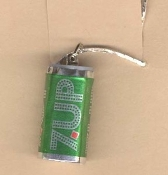 7UP CAN PENDANT NECKLACE-UnCola Soda Pop Fast Food Charm Jewelry