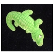 Fuzzy Vintage ALLIGATOR CROCODILE PIN BROOCH - Gator Zoo Lizard Jewelry