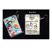 ANIMANIACS PIN Ball Puzzle Game EARRINGS - 3-FACES - Genuine Cracker Jack Plastic Charms Jewelry