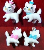 Adorable Miniature ARISTOCATS MARIE CHARACTER EARRINGS - Retro Disney Cartoon Movie Kitty Cat Jewelry - Pink/Blue