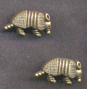 ARMADILLO BUTTON EARRINGS - Southwest Western Desert Animal Speed Bump Jewelry