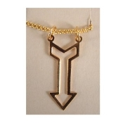 ARROW CHARM PENDANT NECKLACE AMULET-Retro Vintage Jewelry-GOLD