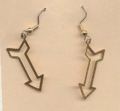 Vintage ARROW EARRINGS - Retro Native American Indian Charm Jewelry