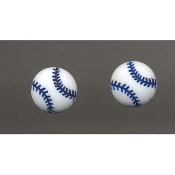 BASEBALL SOFTBALL BUTTON EARRINGS - Team Fan Charm Jewelry