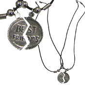 BFF BEST FRIENDS NECKLACE SET-Retro Gift Fun Charm Funky Jewelry