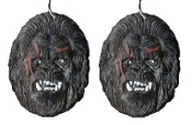 Big KING KONG EARRINGS - Jungle Movie Gorilla Sasquatch BigFoot Ape Collectible Jewelry