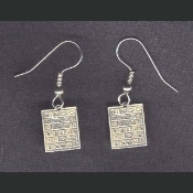 Sterling Silver BINGO CARDS EARRINGS - Lucky Casino Charm Jewelry
