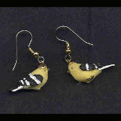Mini BIRD EARRINGS - Spring Garden Birds Jewelry -A