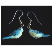 Mini BIRD EARRINGS - Spring Garden Birds Jewelry -E