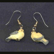 Mini BIRD EARRINGS - Spring Garden Birds Jewelry -L