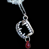 Bite Me-FANG BANGER NECKLACE-Gothic True Blood Vampire Jewelry-A