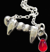 Bite Me-FANG BANGER NECKLACE-Gothic True Blood Vampire Jewelry-B