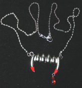 Bite Me-FANG BANGER NECKLACE-Gothic True Blood Vampire Jewelry-E