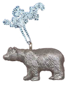 BLACK BEAR PENDANT NECKLACE-Wild Animal Novelty Funky Jewelry