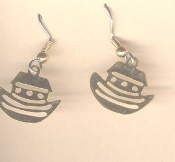 BOAT CRUISE SHIP TRAVEL EARRINGS - Noah's Ark Brass Charm Jewelry