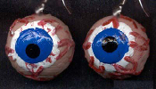 Body Parts Big EYEBALL EYES DANGLE EARRINGS - Funky Gross Realistic Creepy 3-D Eye Charm Costume Jewelry