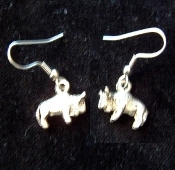 Buffalo Genuine Pewter Earrings - Mini Western Charm