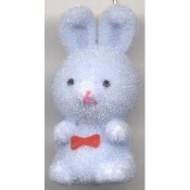 BUNNY FUZZY PENDANT NECKLACE-Easter Party Favor Funky Jewelry-BL