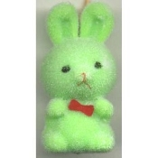 BUNNY FUZZY PENDANT NECKLACE-Easter Party Favor Funky Jewelry-GR