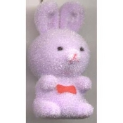 BUNNY FUZZY PENDANT NECKLACE-Easter Party Favor Funky Jewelry-PL