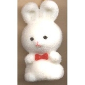 BUNNY FUZZY PENDANT NECKLACE-Easter Party Favor Funky Jewelry-WT