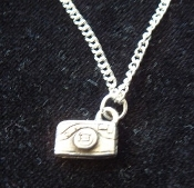 CAMERA PENDANT NECKLACE-Pewter Photography Charm Funky Jewelry