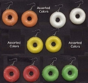 Big LIFE SAVERS CANDY EARRINGS - Vintage Novelty Jewelry - 1-Pair, chosen from assortment, as shown.