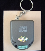 CD PLAYER KEYCHAIN with Pencil Sharpener - Funky Realistic Punk Toy Jewelry