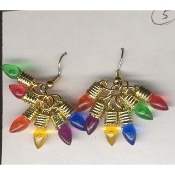 Christmas LIGHT BULB EARRINGS - 6-Color Gift Jewelry - 1/2""