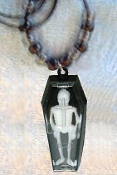 COFFIN SKELETON PENDANT NECKLACE-Gothic Vampire Amulet Jewelry