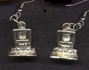 COMPUTER PC EARRINGS - Office Internet Novelty Jewelry - Pewter Charm