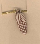 CORN COB PENDANT NECKLACE-Clay/Bone-look Autumn Harvest Jewelry