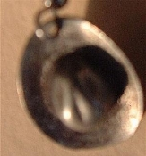 COWBOY HAT PENDANT NECKLACE-Pewter West Western Rodeo Jewelry-Lg