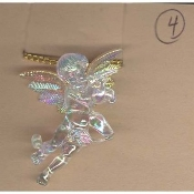 CUPID CHERUB FLUTE PENDANT NECKLACE-Baby ANGEL Charm Jewelry-IRR