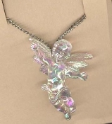 CUPID CHERUB PENDANT NECKLACE-Baby ANGEL Love Charm Jewelry-IRRI