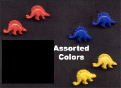3-Pair, Primary Color, Mini STEGOSAURUS DINOSAUR BUTTON STUD EARRINGS - Mini Jurrasic, Cretaceous Period, Archeology, Paleontology Jewelry