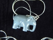 ELEPHANT PENDANT NECKLACE-Toy African Safari Animal Jewelry-HUGE