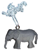 ELEPHANT PENDANT NECKLACE-Toy Safari Zoo Animal Novelty Jewelry