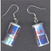 Mini ENERGY DRINK CAN EARRINGS - RED BULL Sports Charm Jewelry