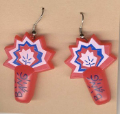 FIRECRACKERS EARRINGS - Fireworks Party Patriotic Charm Jewelry