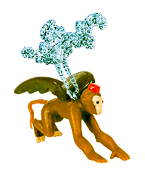 Flying MONKEY PENDANT NECKLACE-Wizard of Oz Witch Funky Jewelry