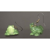 Little BULL FROG TOAD EARRINGS - 3D Resin Pond Animal Jewelry - Mini FROGGY Figure charms
