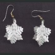 Sparkle SNOWFLAKES EARRINGS - Winter Ski Holiday Snow GLITTER Jewelry