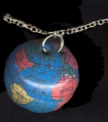 GLOBE PENDANT NECKLACE-Teacher World Planet Earth Funky Jewelry