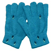 Washable Women Girls Rhinestone Winter Dress MAGIC-Stretch GLOVES -BLUE- Rhinestone shapes and colors may vary.