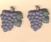 Big Resin GRAPES BUNCH BUTTON EARRINGS - Restaurant Fruit Wine Jewelry.