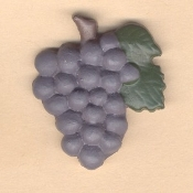 Big Resin GRAPES BUNCH BUTTON PIN BROOCH - Restaurant Fruit Wine Jewelry